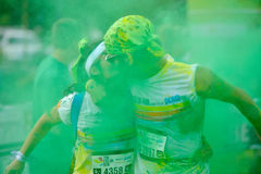 MAMAIA, CONSTANTA, ROMANIA - JULY 26: Mamaia color run 2014, in Stock Images