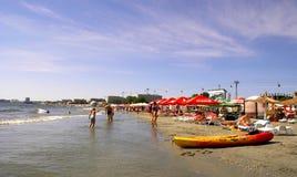 Mamaia plaża przy Czarnym morzem Zdjęcia Royalty Free