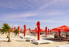 Mamaia plaża przy Czarnym morzem Obraz Royalty Free