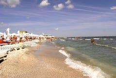 Mamaia plaża przy Czarnym morzem Zdjęcie Stock