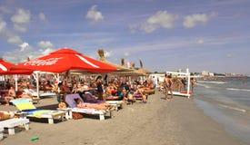 Mamaia plaża przy Czarnym morzem Zdjęcie Royalty Free