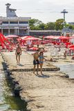 Mamaia sea resort, Romania Royalty Free Stock Photos