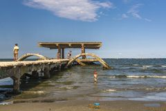 Mamaia sea resort, Romania Stock Photo