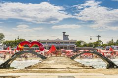 Mamaia sea resort, Romania Royalty Free Stock Photography