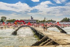 Mamaia sea resort, Romania Royalty Free Stock Images