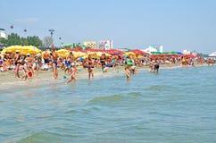 Mamaia strand i Rumänien Arkivbild