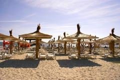 Mamaia strand på Blacket Sea Royaltyfria Bilder