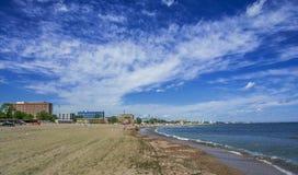 Mamaia strand, Rumänien Fotografering för Bildbyråer