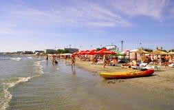 Mamaiastrand in de Zwarte Zee Royalty-vrije Stock Foto