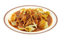 Mamak Rojak, or Indian rojak Pasembor served on a Plate Royalty Free Stock Photos