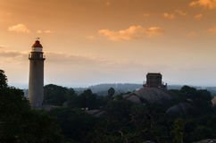 Mamallapuram灯塔 免版税库存照片