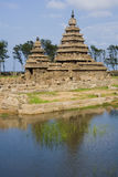Mamallapuram Shore Temple - India. The Vishnu Shore Temple in Mamallapuram in the Tamil Nadu region of Southern India Royalty Free Stock Photography