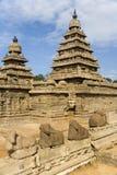 Mamallapuram Shore Temple - India. The Vishnu Shore Temple in Mamallapuram in the Tamil Nadu region of southern India Royalty Free Stock Images
