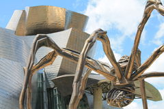 Maman. The giant spider Maman by Louise Bourgeois. The Guggenheim Museum, Bilbao (Basque Country Stock Photography