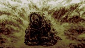 Maman antique de moine illustration de vecteur