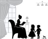 Maman avec des enfants Images libres de droits
