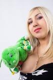 Maman avec des jouets Image libre de droits