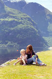 Maman avec la fille Images stock