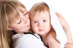 Maman avec le fils photographie stock libre de droits