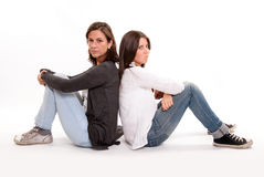 Maman et adolescent sérieux Photographie stock