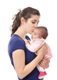 Maman et bébé. photos stock
