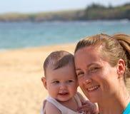 Maman et bébé Photos stock