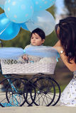 Maman et bébé Image stock