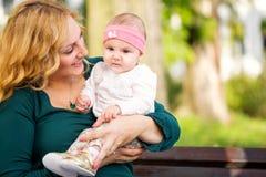 Maman et bébé Photo libre de droits