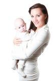 Maman et bébé heureux Photographie stock libre de droits