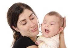 Maman et bébé heureux. Photos libres de droits
