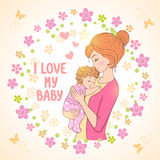 Maman et chéri Photos stock