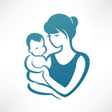 Maman et chéri Photos libres de droits
