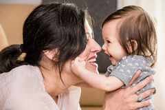 Maman et chéri Photo stock