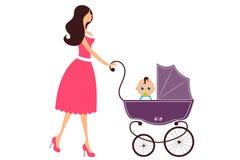 Maman et chéri Images libres de droits
