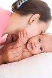 Maman et chéri heureuses image libre de droits