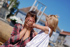 Maman et descendant image libre de droits