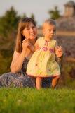 Maman et descendant Images stock