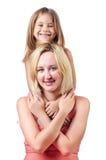 Maman et descendant heureux Image libre de droits