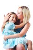 Maman et descendant heureux Images libres de droits