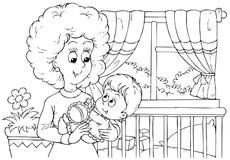 Maman et enfant Photographie stock libre de droits