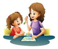 Maman et enfant Image libre de droits