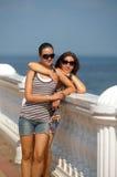 Maman et fille adolescente Images libres de droits