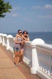 Maman et fille adolescente Image libre de droits