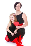 Maman et fille de mode Images stock