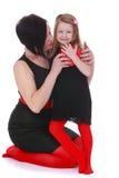 Maman et fille de mode Images libres de droits