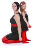 Maman et fille de mode Image stock
