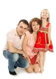 Maman et fille de papa Photos libres de droits