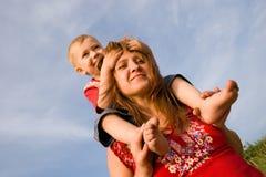 Maman et fils Photographie stock