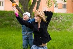 Maman et fils Photos stock