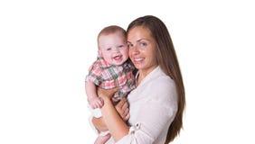 Maman et fils Photo stock